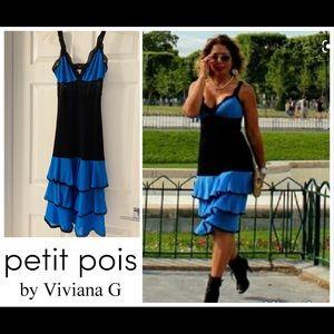 Petit Pois by Viviana G lace/mesh dress